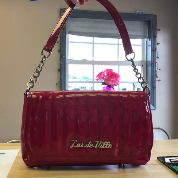 aa2de9a833 Lux de Ville Handbags - Red Lux de Ville purse ✨rockabilly, pinup✨